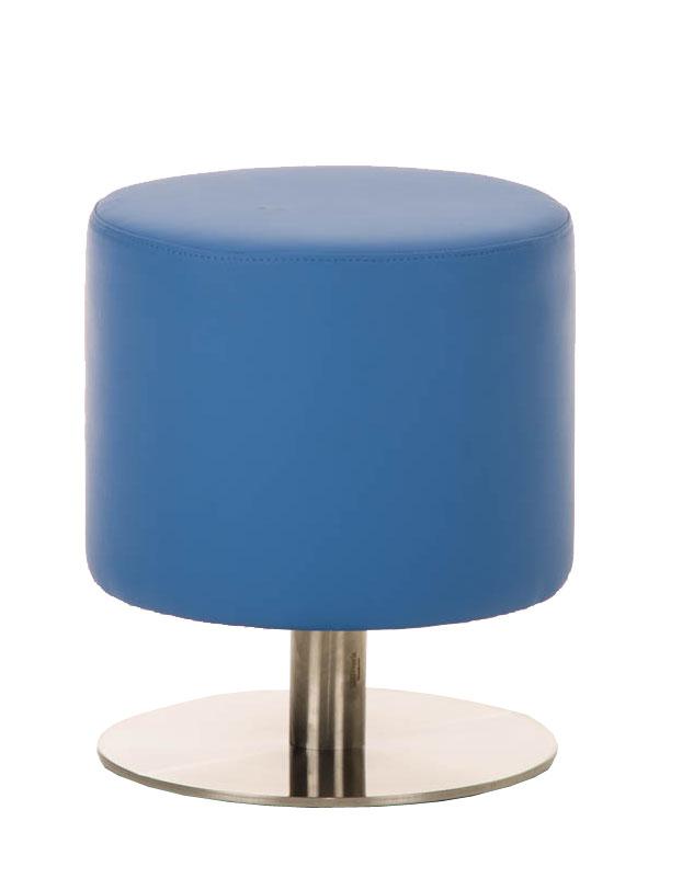 Sitzhocker Max 3 Hocker Rundhocker Kunstleder Blau 38x38 cm