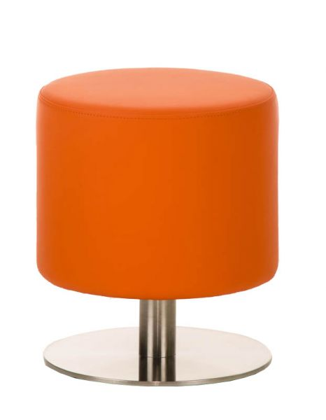 Sitzhocker - Max 3 - Hocker Rundhocker Kunstleder Orange 38x38 cm