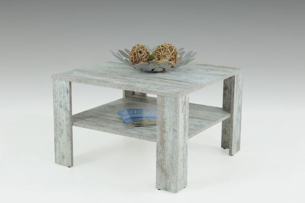 """Couchtisch Tisch """"Loco 2"""" 68x68 cm mit Ablageboden Vintage Eiche"""