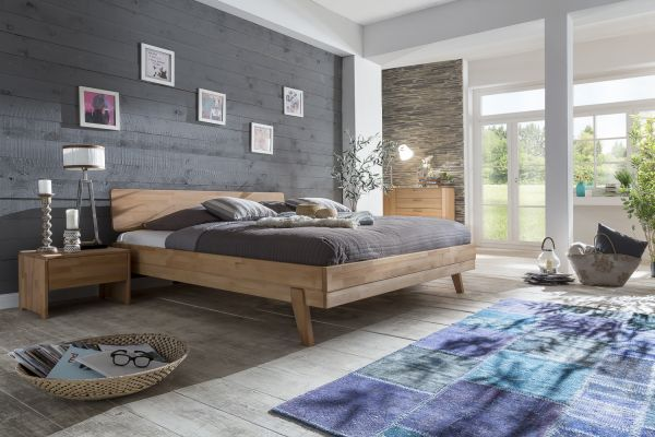 Massivholzbett Schlafzimmerbett - VIA - Bett Kernbuche 180x200 cm
