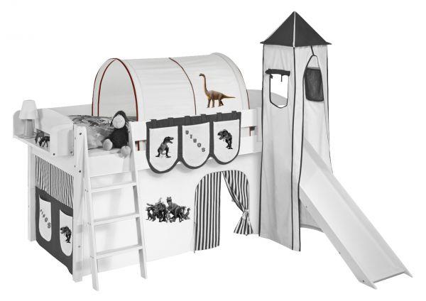 Tunnel Dinos Braun - für Hochbett, Spielbett und Etagenbett