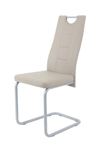 Esszimmerstühle Stühle Freischwinger 4er Set - Katy- Cappuccino