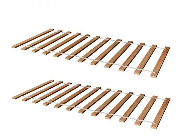 Rollrost Lattenrost Rolllattenrost 2ER SET 90 x 200 cm Massivholz