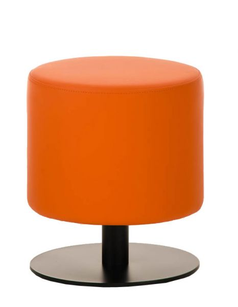 Sitzhocker - Max 2 - Hocker Rundhocker Kunstleder Orange 38x38 cm