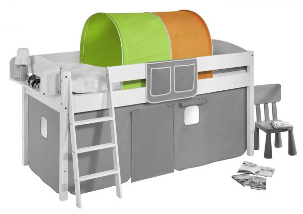 Etagenbett Grün : Tunnel grün orange für hochbett spielbett und etagenbett fun