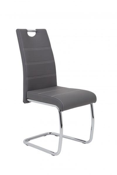 Esszimmerstühle Stuhl Freischwinger 2er Set ELENI Grau