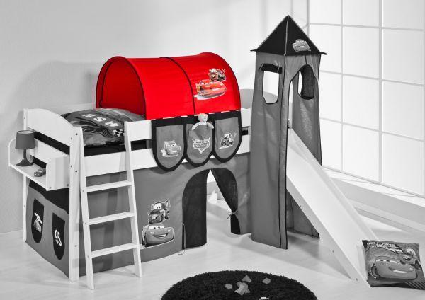 Etagenbett Spielbett : Bett vorhang hochbett spielbett timmy in buche massiv mit