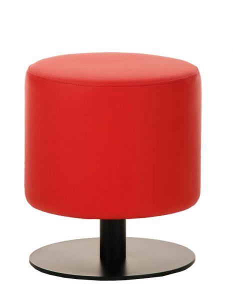 Sitzhocker - Max 2 - Hocker Rundhocker Kunstleder Rot 38x38 cm