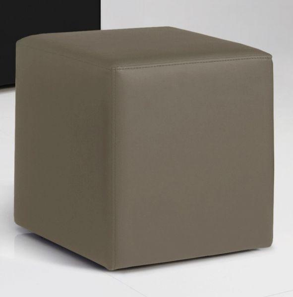 Sitzwürfel Sitzhocker Hocker - KUBUS - Kunstleder Muddy 40x40x45 cm