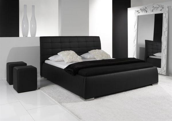 Polsterbett Bett Doppelbett Tagesbett - VERMONT - 160x200 cm Schwarz