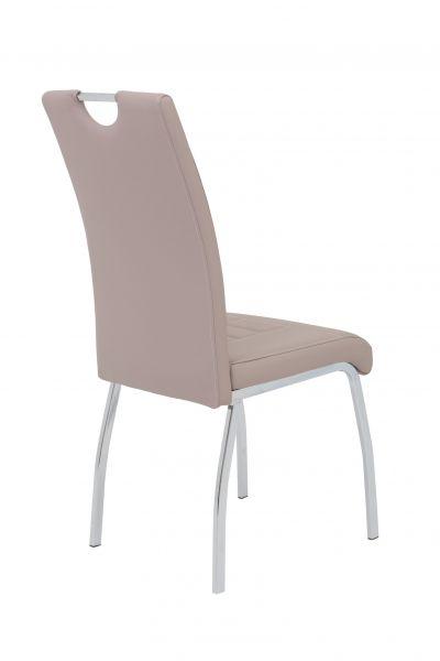 Esszimmerstühle Stühle Vierfußstuhl 2er Set ALIDA Cappucino
