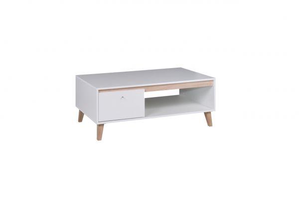 Couchtisch Tisch KALMAR 120x46,5x65 cm in Weiss matt