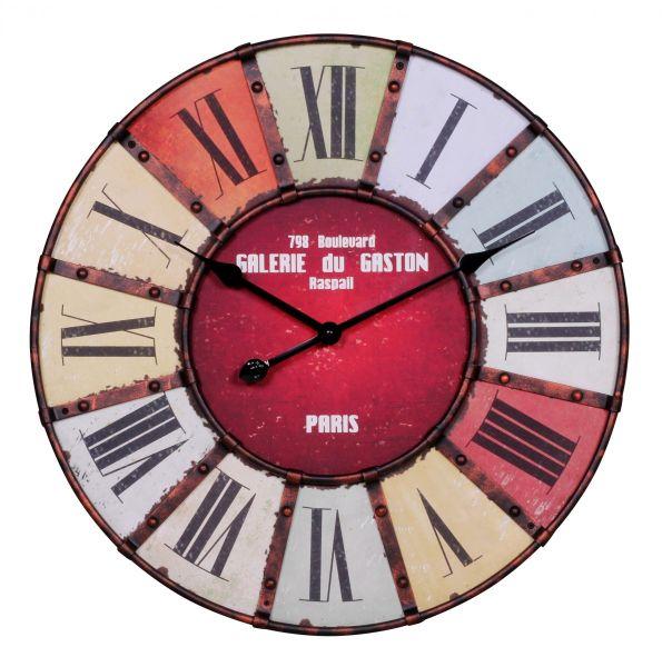 Wanduhr XXL Ø 60 cm Uhr Galerie Vintage lookt