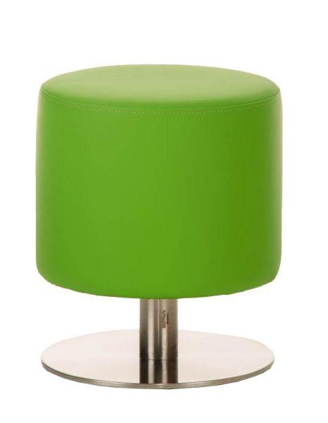 Sitzhocker - Max 3 - Hocker Rundhocker Kunstleder Grün 38x38 cm