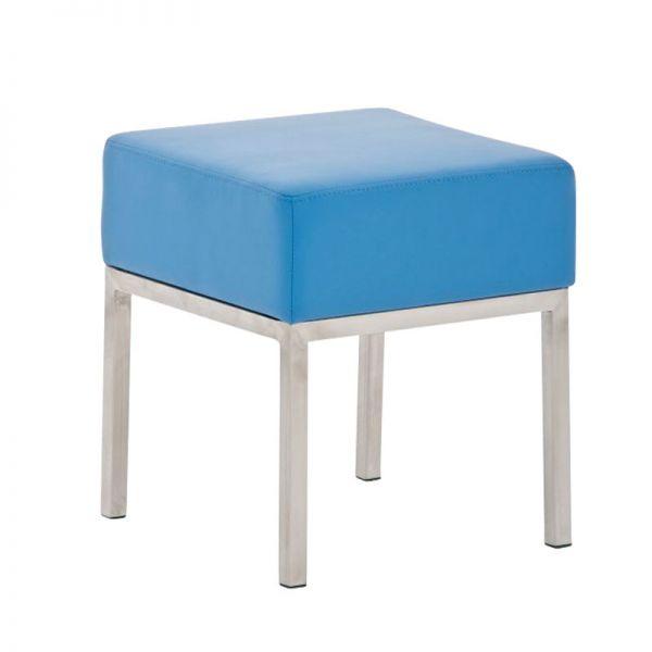 Sitzhocker - LONI 2 - Hocker Sessel Kunstleder Blau 40x40 cm