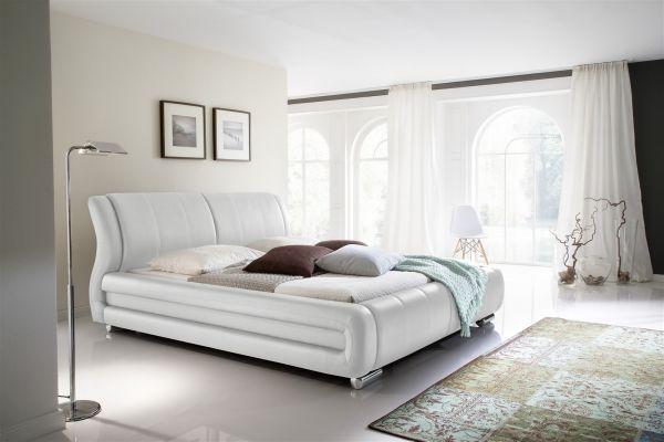 Polsterbett Bett Doppelbett Tagesbett - LIMA - 180x200 cm Weiss
