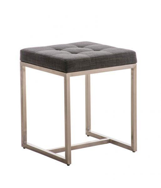 Sitzhocker -BRIT- Schminkhocker Hocker Sessel Stoff Dunkelgrau 40x40cm
