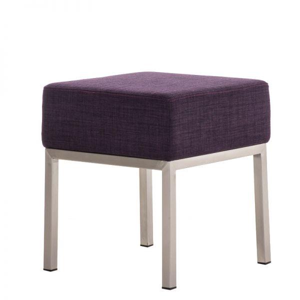 Sitzhocker - LONI - Schminkhocker Hocker Sessel Stoff Lila 40x40 cm