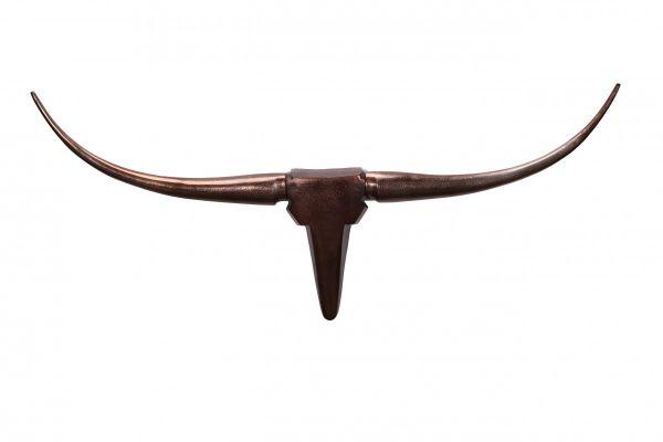 Wanddekoration Geweih Bull M 100 cm Aluminium bronze