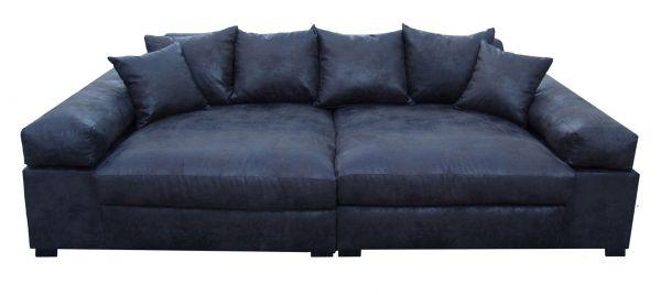 Big Sofa Couchgarnitur Megasofa Riesensofa GULIA - Gobi 4 Schwarz