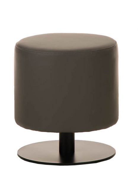 Sitzhocker - Max 2 - Hocker Rundhocker Kunstleder Grau 38x38 cm