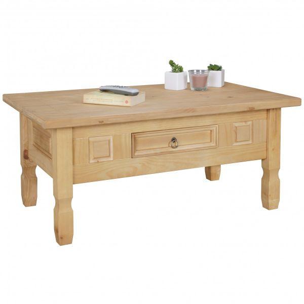 Couchtisch Tisch WOODI Kiefer vollmassiv /Echtholz 100 x 60 cm | Fun ...