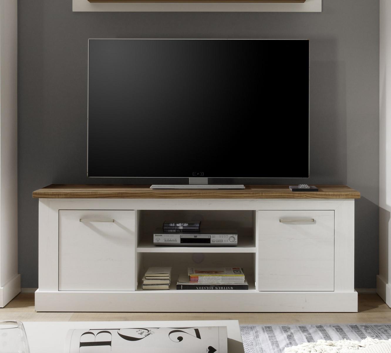 Lowboard Tv Schrank Naturell 160x60 Cm Im Pinie Weiss Nussbaum