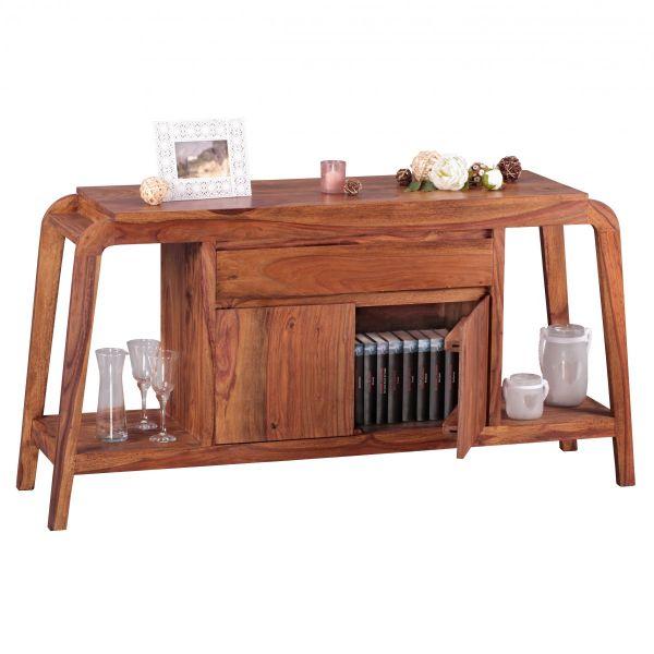 Sideboard Kommode BUANA 150x40x76 cm Massivholz Sheesham Landhausstil