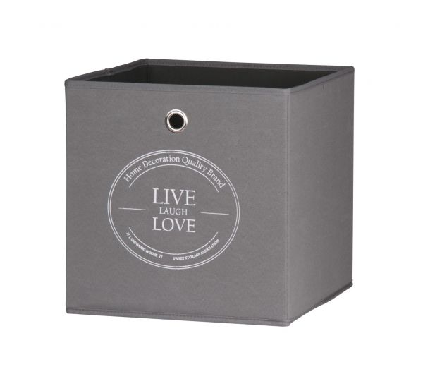 Faltbox Box - LIVE -32 x 32 cm / 3er Set - Anthrazit