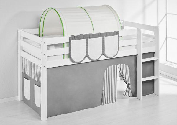 Tunnel Grün Beige - für Hochbett, Spielbett und Etagenbett