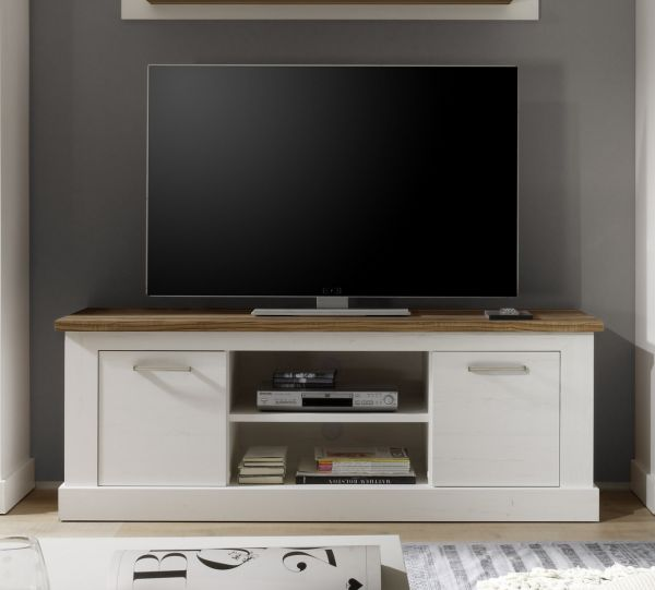 lowboard tv schrank naturell 160x60 cm im pinie weiss nussbaum sattin fun m bel. Black Bedroom Furniture Sets. Home Design Ideas