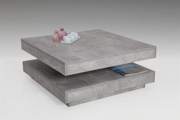 Couchtisch Beistelltisch Wohnzimmertisch - Bento- 78x78 cm Beton Optik