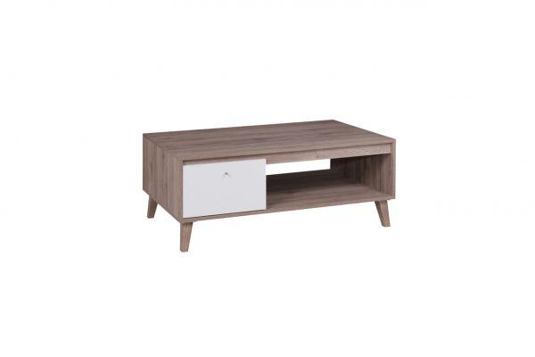 Couchtisch Tisch KALMAR 120x46,5x65 cm in Sanremo / Weiss matt