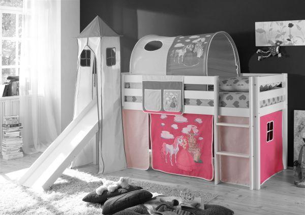 Etagenbett Zubehör Vorhänge : Vorhang 4.tlg prinzessin pink für spielbett hochbett etagenbett