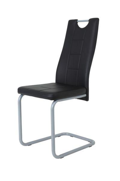 Esszimmerstühle Stühle Freischwinger 2er Set - Katy- Schwarz