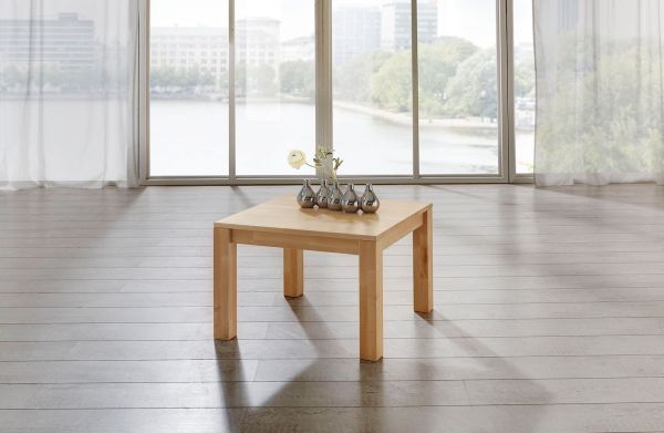 Couchtisch Tisch MALTE Eiche vollmassiv / Echtholz 110 x 70 cm