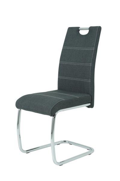 Esszimmerstühle Stühle Freischwinger 2er Set - Gloria- Anthrazit