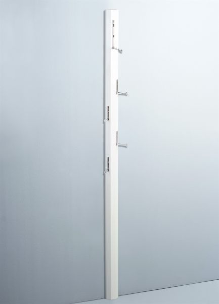 Garderobe DIEGO Hochglanz Weiss 8x185x4 cm