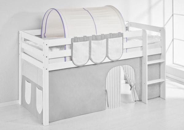 Tunnel Lila Beige - für Hochbett, Spielbett und Etagenbett