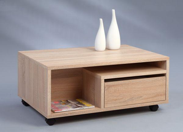 Couchtisch Beistelltisch - Carl 1 - 90x60 cm Sonoma Eiche