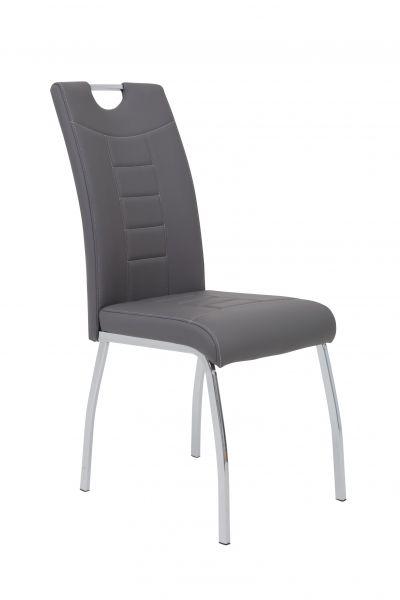 Esszimmerstühle Stühle Vierfußstuhl 4er Set ALIDA Grau