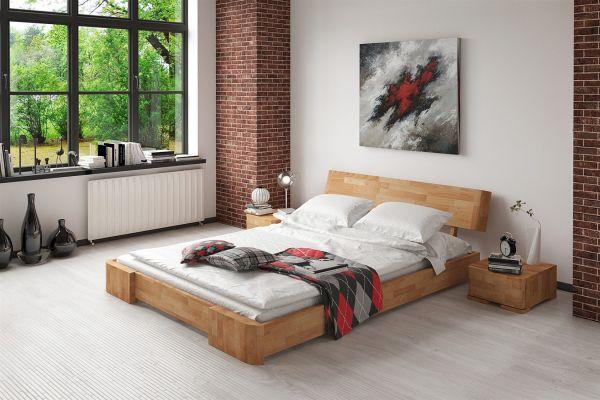 Massivholzbett Bett Schlafzimmerbett MESA Eiche massiv 140x200 cm