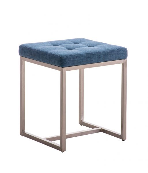 Sitzhocker - BRIT - Schminkhocker Hocker Sessel Stoff Blau 40x40 cm