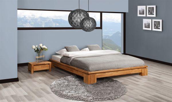 Futonbett Bett Schlafzimmerbet Maison Eiche Massiv 90x200 Cm Eiche