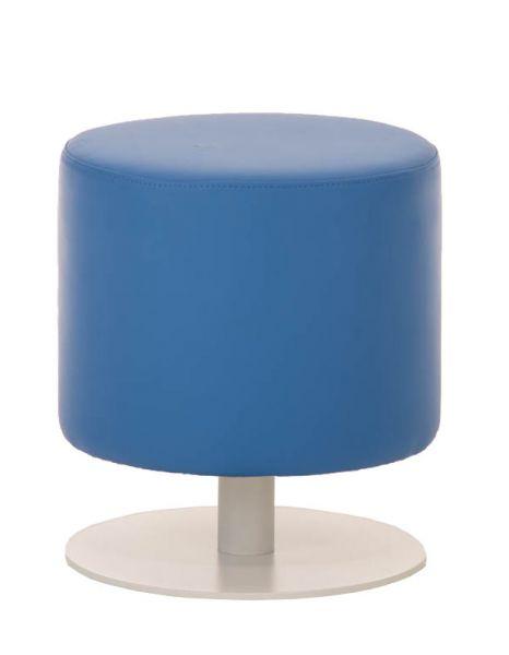 Sitzhocker - Max - Hocker Rundhocker Kunstleder Blau 38x38 cm