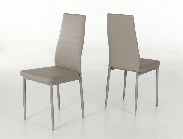 Esszimmerstühle Stühle Vierfußstuhl 4er Set SARIN Cappuccino