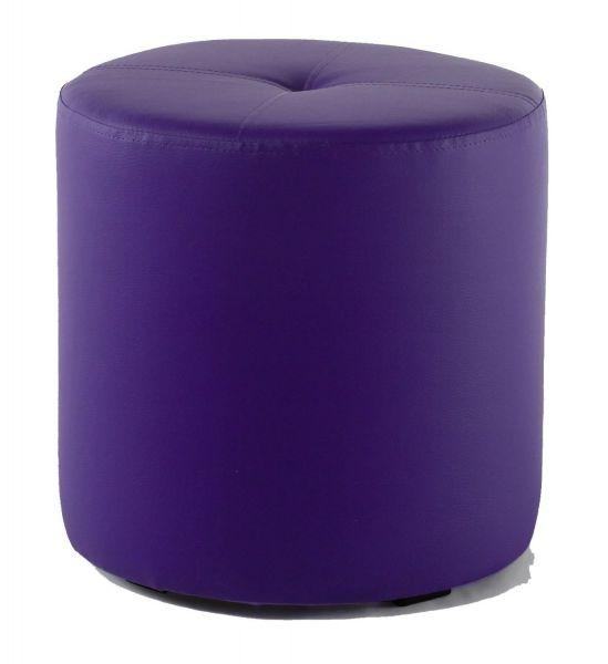 Rundhocker Sitzhocker Schminkhocker Hocker Sessel Kunstleder Violet 43x43 cm