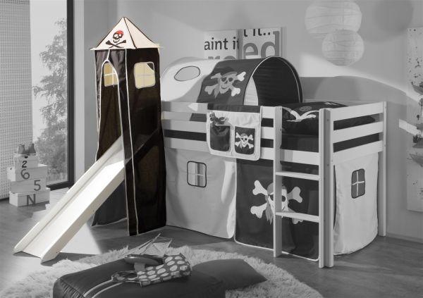 Turm Pirat /Schwarz für Spielbett Hochbett Etagenbett