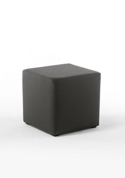 Sitzwürfel Sitzhocker Schminkhocker Hocker Sessel Kunstleder Schwarz 45x45 cm