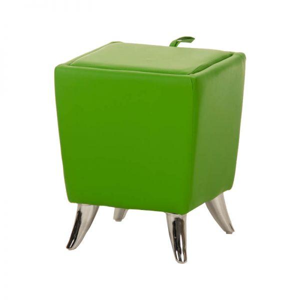 Sitzhocker - Ria - Hocker Schminkhocker Kunstleder Grün 36x36 cm